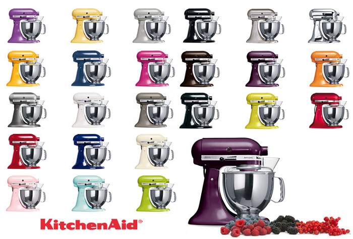 mikser kitchenaid kolory